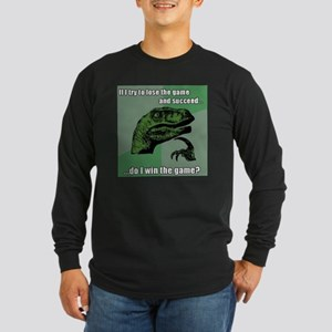 philosoraptor Long Sleeve Dark T-Shirt