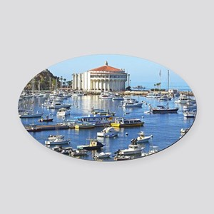 catalina2 Oval Car Magnet
