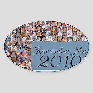 2010 cover2 Sticker (Oval)
