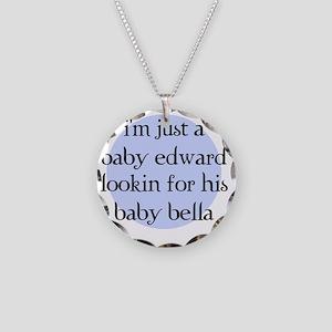 babyedward Necklace Circle Charm