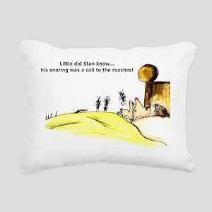 Snoring Rectangular Canvas Pillow