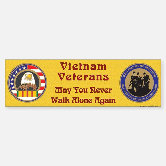Vietnam Veteran Bumper Car Car Sticker