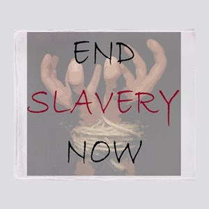 END SLAVERY NOW Throw Blanket