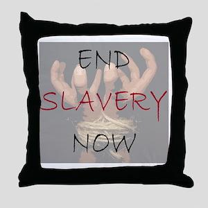 END SLAVERY NOW Throw Pillow