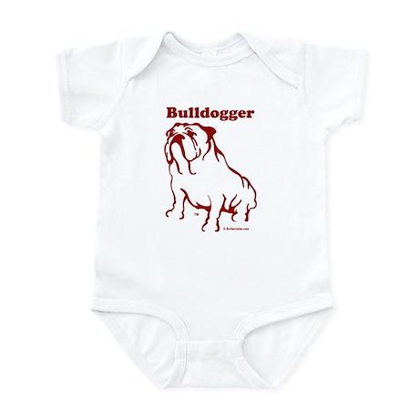 Bulldogger Logo Red Infant Bodysuit