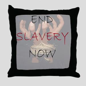 3-END SLAVERY NOW Throw Pillow