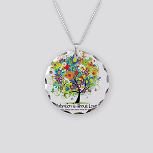 2-FAMILY TREE ONE MORE Necklace Circle Charm