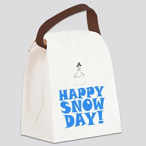 ART HAPPY SNOW DAY Canvas Lunch Bag
