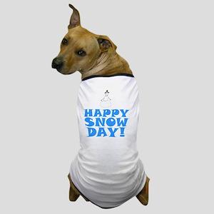ART HAPPY SNOW DAY Dog T-Shirt