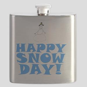 ART HAPPY SNOW DAY Flask