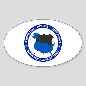 Policevet's Logo Oval Sticker