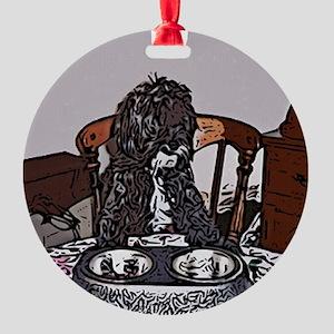 shihpoo2 Round Ornament
