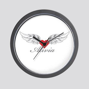 Angel Wings Alivia Wall Clock