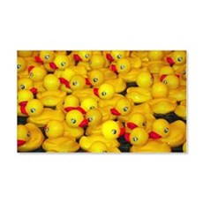 Cute yellow rubber duckies Wall Decal