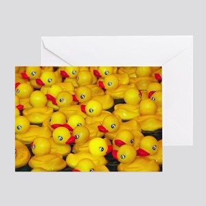 Cute yellow rubber duckies Greeting Card