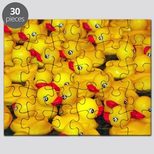 Cute yellow rubber duckies Puzzle