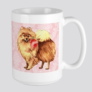 Pomeranian Rose Large Mug