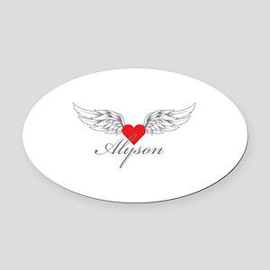 Angel Wings Alyson Oval Car Magnet