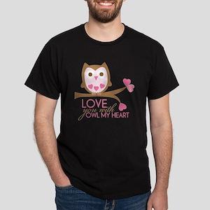 owlmyheart copy Dark T-Shirt