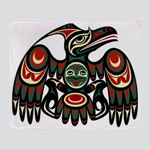 Northwest eagle Throw Blanket