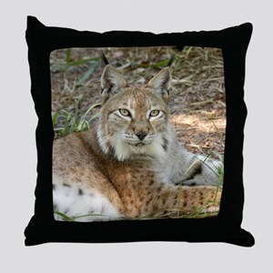 siberian lynx 015 Throw Pillow