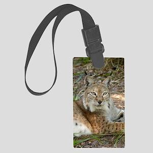 siberian lynx 015 Large Luggage Tag