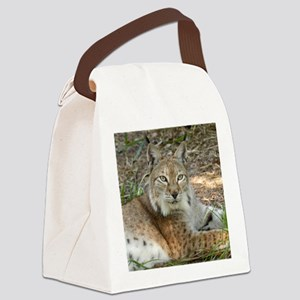siberian lynx 015 Canvas Lunch Bag