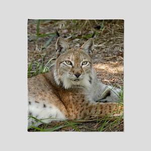 siberian lynx 015 Throw Blanket