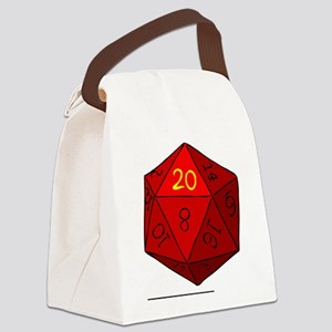 d20_high Canvas Lunch Bag