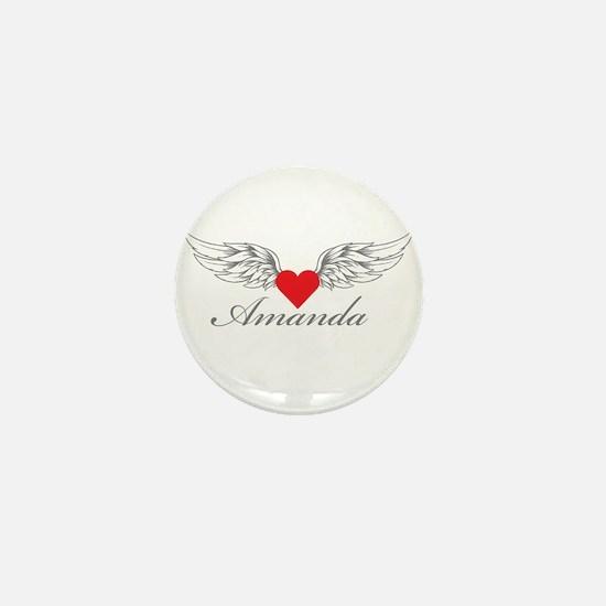 Angel Wings Amanda Mini Button