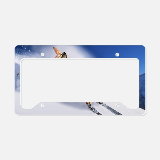 tiger skiing12x16 License Plate Holder