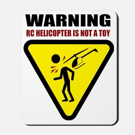 3-heli-caution Mousepad