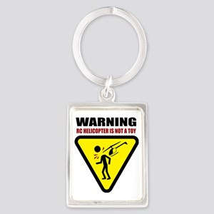 3-heli-caution Portrait Keychain