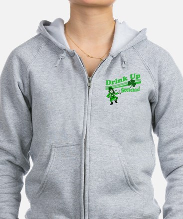 drink up beetchizBRIGHT Zip Hoodie