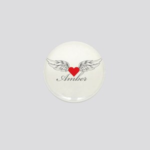 Angel Wings Amber Mini Button