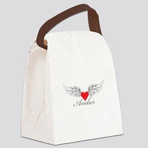Angel Wings Amber Canvas Lunch Bag