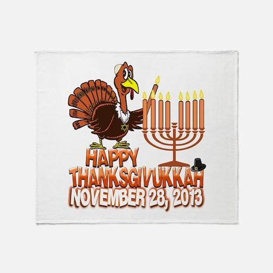 Happy Thanksgivukkah Thankgiving Hanukkah Throw Bl