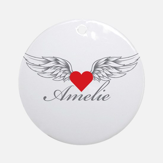 Angel Wings Amelie Ornament (Round)