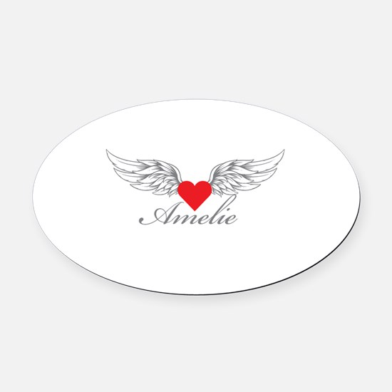 Angel Wings Amelie Oval Car Magnet