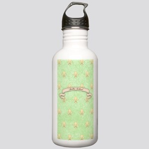 Green Fleur de lis bal Stainless Water Bottle 1.0L