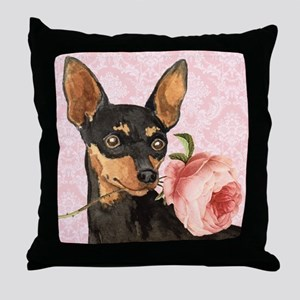 Min Pin Rose Throw Pillow