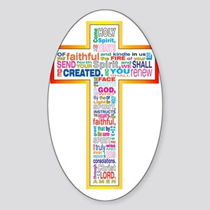 colorful holy spirit Sticker (Oval)