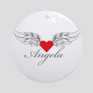 Angel Wings Angela Ornament (Round)