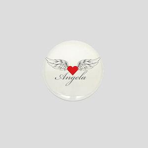 Angel Wings Angela Mini Button