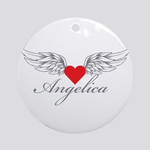 Angel Wings Angelica Ornament (Round)