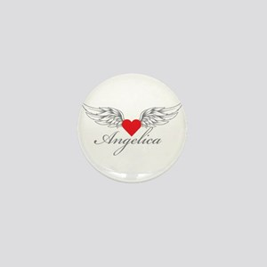 Angel Wings Angelica Mini Button