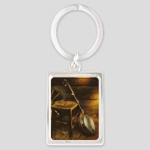 Banjo Picture Larger Portrait Keychain