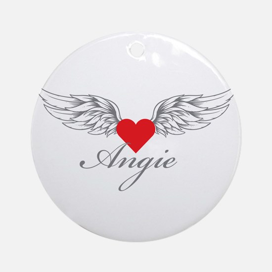 Angel Wings Angie Ornament (Round)