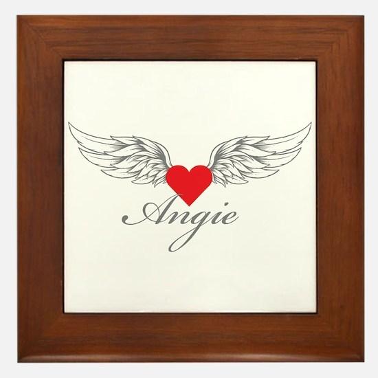 Angel Wings Angie Framed Tile