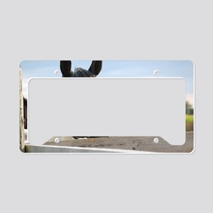HORSE-CHEWING License Plate Holder